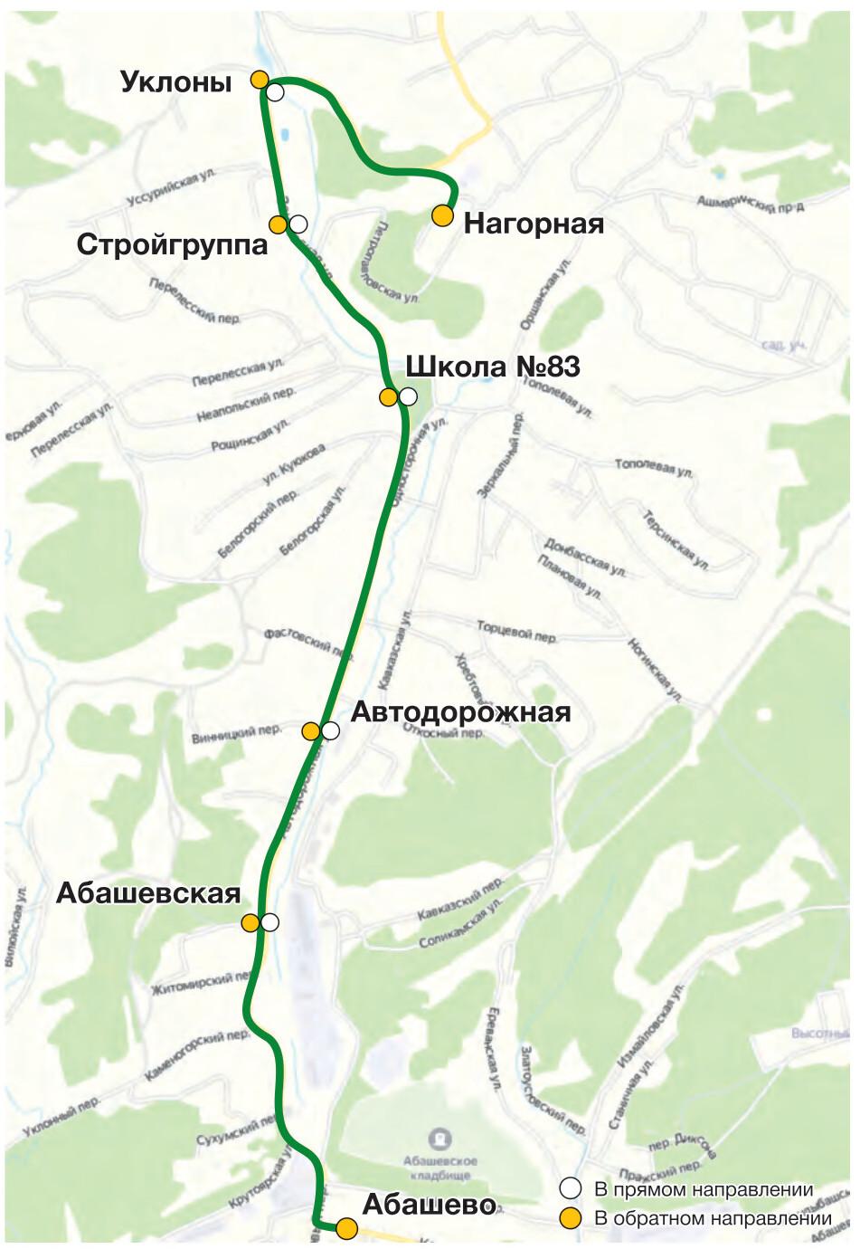 Автобус №2 АБАШЕВО - Ш. НАГОРНАЯ | Расписание и маршрут движения