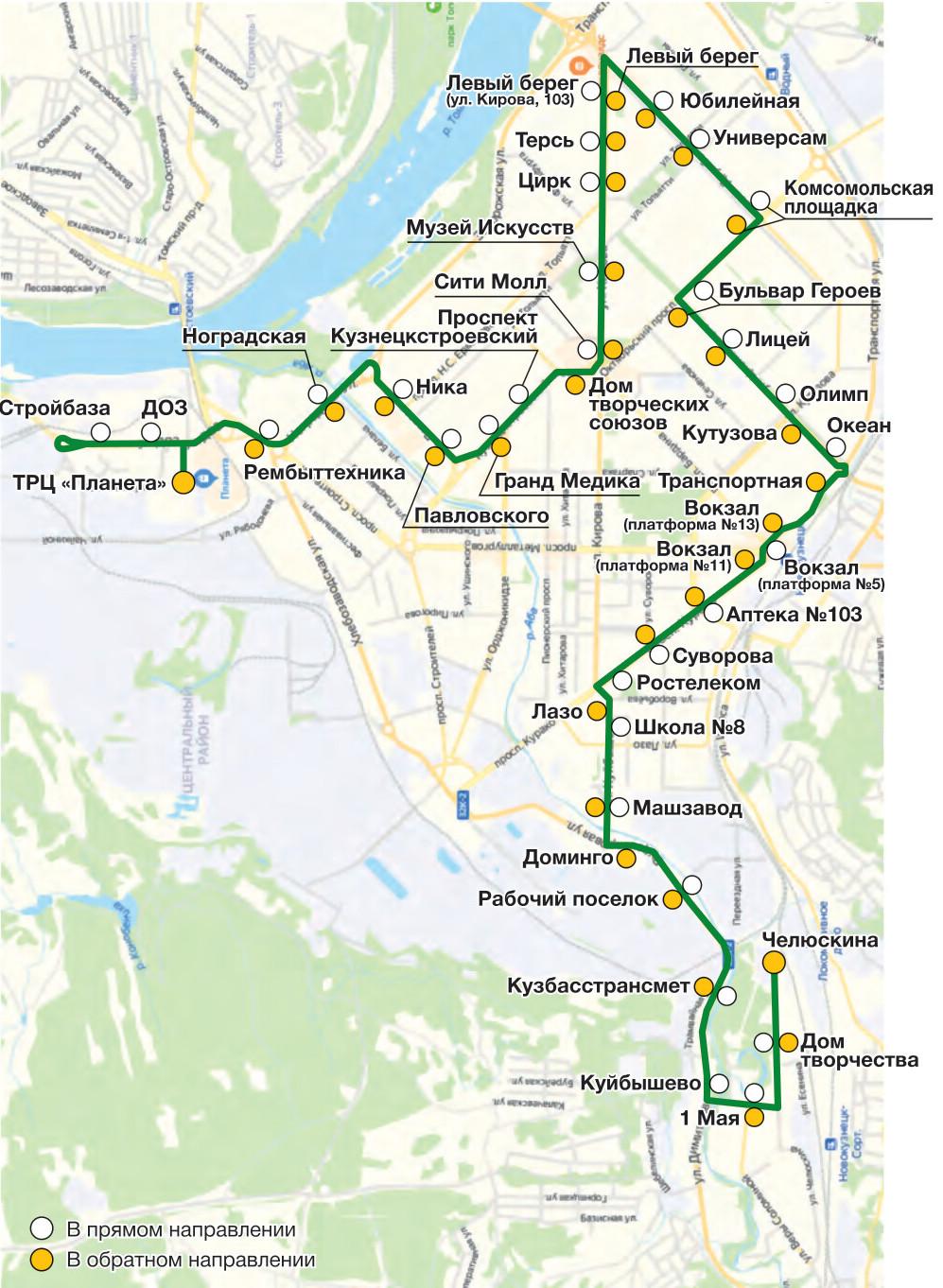 Автобус №27 НОВОБАЙДАЕВКА - ЧЕЛЮСКИНА | Карта маршрута