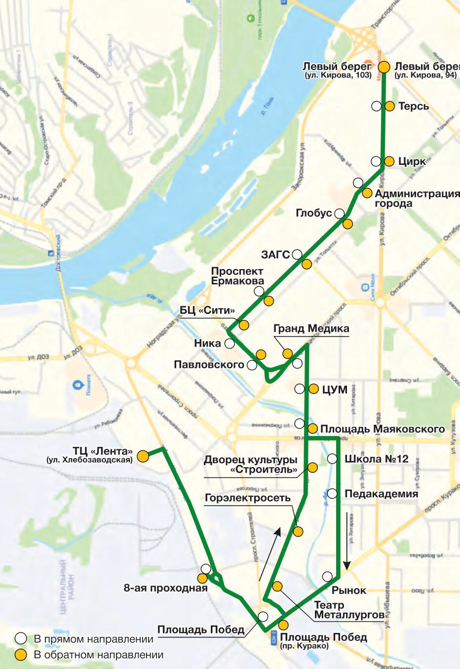 Автобус №28 ЛЕВЫЙ БЕРЕГ - ТЦ ЛЕНТА (УЛИЦА ХЛЕБОЗАВОДСКАЯ) | Расписание и маршрут движения
