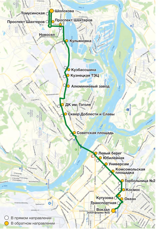 Автобус №60 ВОКЗАЛ - НОВОБАЙДАЕВКА   Карта маршрута