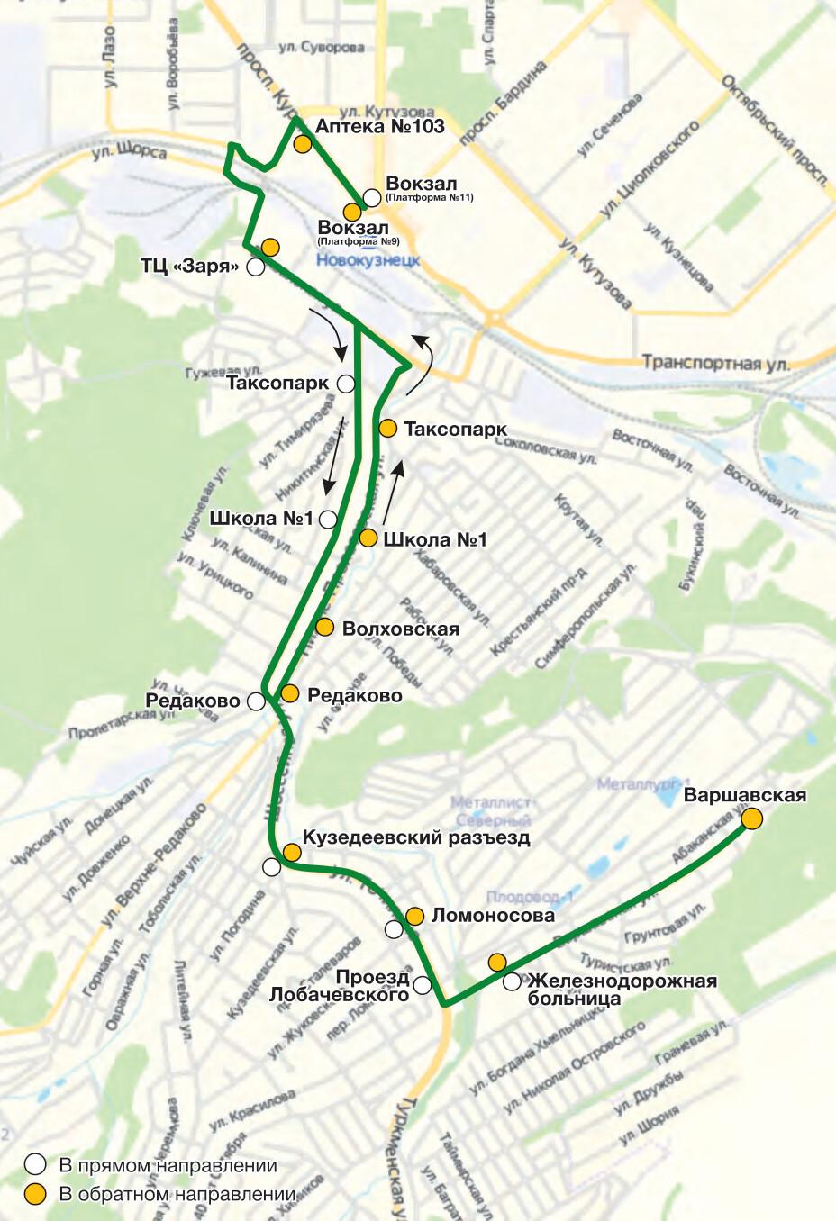 Автобус №65 ВОКЗАЛ - ВАРШАВСКАЯ | Расписание и маршрут движения