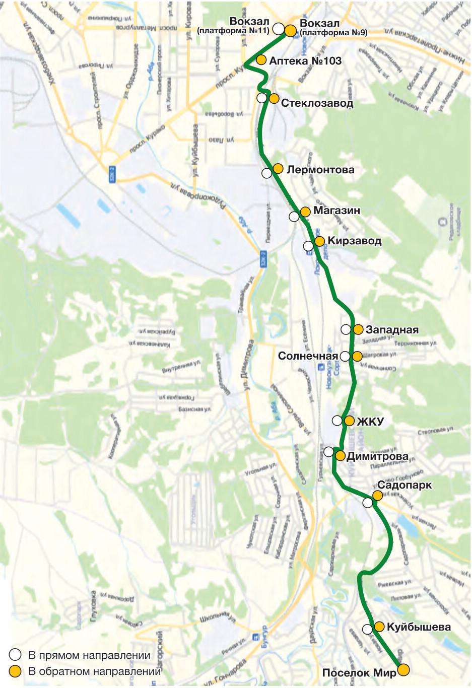 Автобус №68 ВОКЗАЛ - ПОСЕЛОК МИР | Расписание и маршрут движения