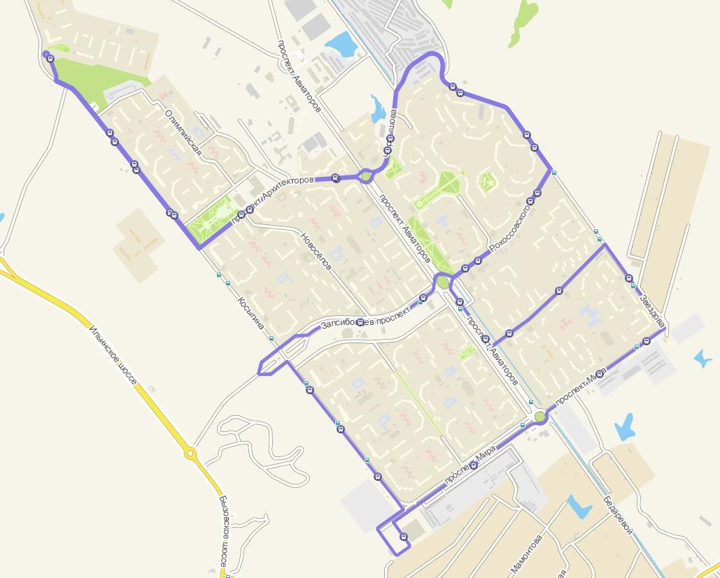 Автобус №82 МОЛОДОСТЬ ЗАПСИБА - ЛЕНТА - БЕРЕЗОВАЯ РОЩА | Карта маршрута
